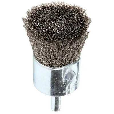 WEILER 96307 Crimped Wire End Wire Brush, Stainlesss Steel