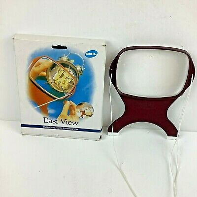 Easi View Hands Free Magnifier by COIL 1.7x magnification 145 x 105mm Rectangle