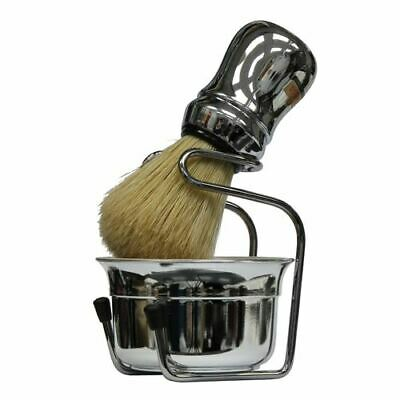 Omega Chrome Shaving Bowl, Shaving Brush and Drip Stand
