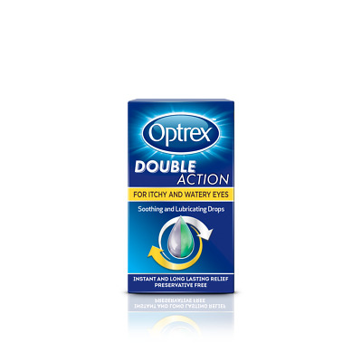 Optrex Double Action For Itchy and Watery Eyes - 10 ml - Drops