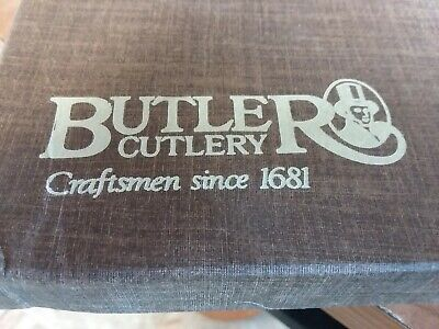 """6 x 8"""" Stainless Steel Staghorn Knife set from Butler Cutlery of Shefield, UK"""