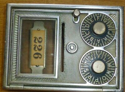 6 Vintage dual dial Post Office Box doors with working combination locks