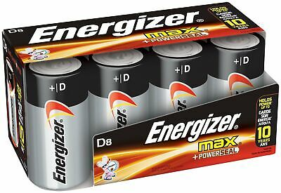 Energizer D Cell Batteries Max Alkaline D Battery Size 8 Count Clear FREE SHIP