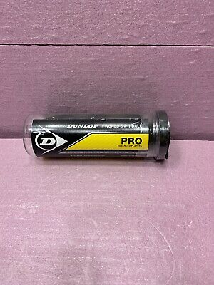 3 Dunlop Competition Squash Balls In Sealed Tube