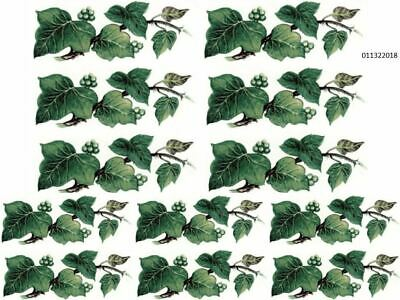 DarK GReeN LeaVeS BRanCheS ShaBby TRanSfeRs WaTerSLiDe DeCALs