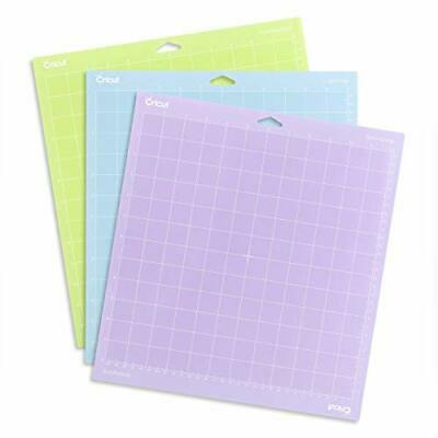 "CRICUT Cutting Mat 12"" x 12"" Variety 3 Pack LightGrip StandardGrip StrongGrip"