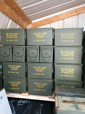 50 Cal Ammo Can Box Pack Military M2A1 Metal Storage (2-Pack)