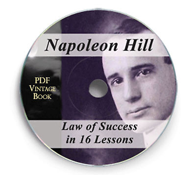 Law of Success in Sixteen Lessons Napoleon Hill Book CD - Mp3 Audio Napolean 222