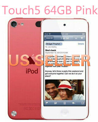 US SELLER NEW Apple iPod Touch 5th Generation 64GB PINK MP3 MP4Player+ Warranty