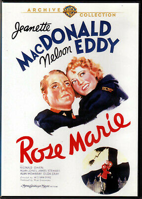 ROSE MARIE The CLASSIC MUSICAL of JEANETTE MacDONALD Nelson Eddy JAMES STEWART a