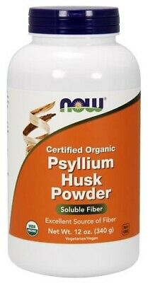Organic Psyllium Husk Powder Now Foods 12 oz Powder
