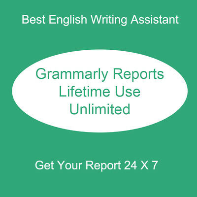 English Writing Grammar Check Grammarly Report Yearly Unlimit 360 Days