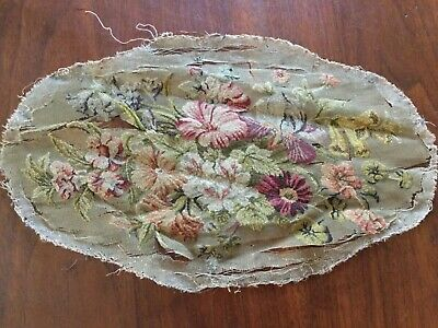 c.1900 Georgian needlepoint embroidery - single thread through open weave canvas