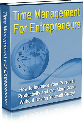 Time Management For Entrepreneurs Ebook PDF & 5 Free Ebooks MRR Free Shipping