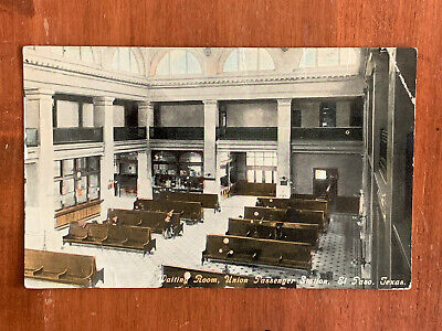TX Texas, El Paso, Union Railroad Passenger Station Waiting Room, PM 1911