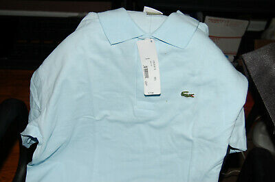 50b6dd9867e8 Mens Lacoste Blue Performance Short Sleeve Golf Polo Shirt Eur 6 Size Large  L