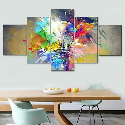 Psychedelic Abstract Light Bulb Paint 5 pcs HD Art Wall Home Decor Canvas Print