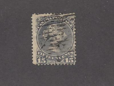 CANADA # 30 FVF-15cts LARGE QUEEN CAT VALUE $30+