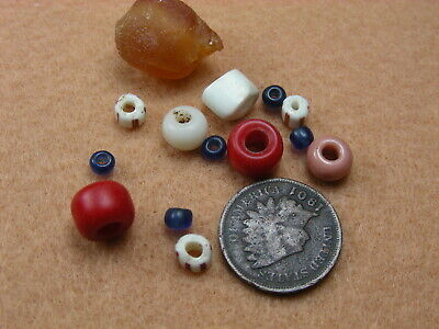 PACIFIC NORTHWEST TRADE BEADS incl an OLD AMBER