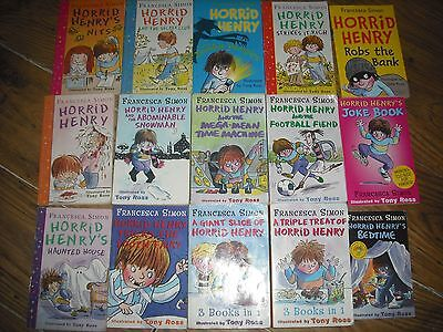 HORRID HENRY BUNDLE, 3 in 1 books jokes, Christmas Early