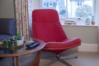 Superb Retro Vintage 70S Swivel Leather Armchair Probably Danish Squirreltailoven Fun Painted Chair Ideas Images Squirreltailovenorg