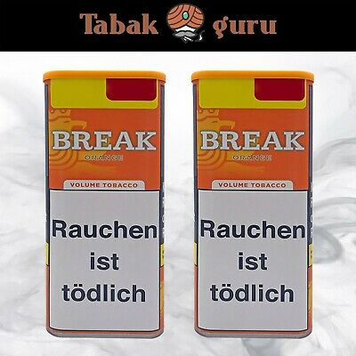 2 x Break Orange Tabak XXL Dose Inhalt 120 g Volumentabak
