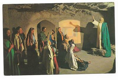 Vintage Canada Chrome Postcard Musee Historique St Peter Preaching Wax Figures