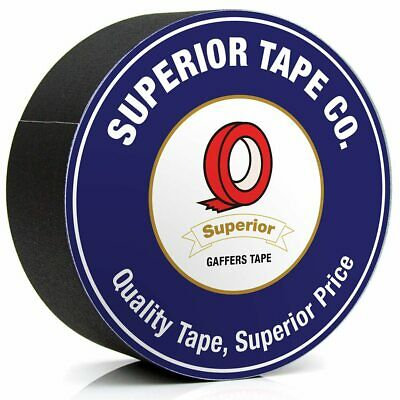 Superior Gaffers Tape - Waterproof, No Residue - Black 2 Inch 30 Yard Gaff Tape