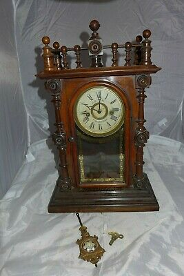 Gerster Welch Spring eight day mantel clock C.W Cray Fraserburgh Spares Repairs