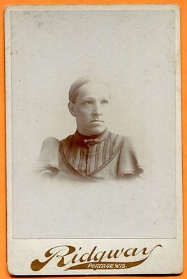 Portage, WI, Portrait of a Young Woman, by Ridgway, circa 1890s