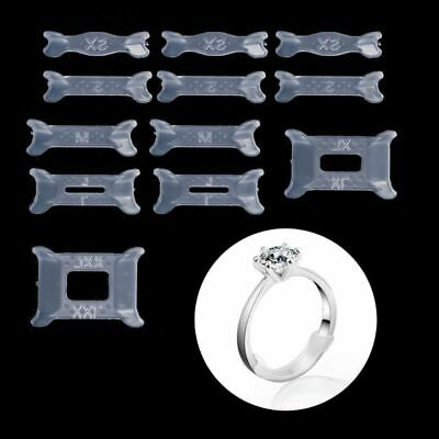 12Pcs Adjuster Invisible Ring Size for Loose Ring Size Reducer Spacer Ring Guard