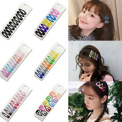 10Pcs/Set Girls Bobby Pin Barrette Hairpin Snap Hair Clips Hair Accessories Gift
