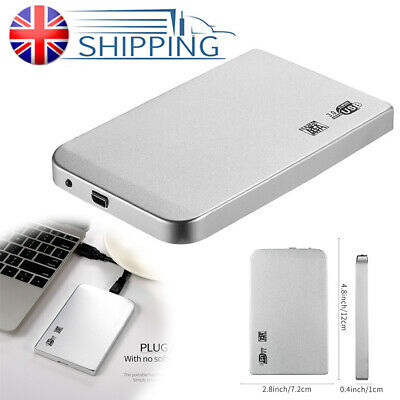2TB Portable External Hard Drive Disk HDD USB 3.0 2.5'' for PC / Laptop UK Set
