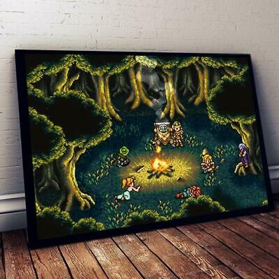 Chrono Trigger Campfire Scene Poster 12-48 Inches Without Frame
