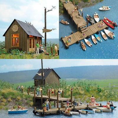 Bnib Oo / Ho Busch 1065 Boat Rentals Kit - With Many Accessories And Boats
