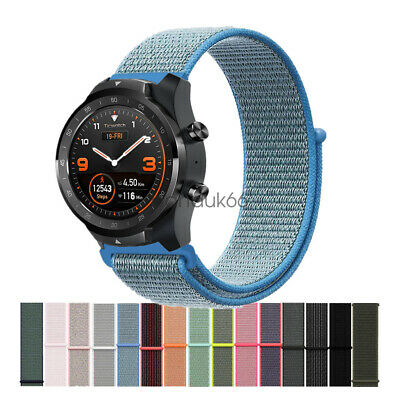 Woven Nylon Sport Loop Wrist Watch Band Strap For TicWatch Pro S2 E2 TicWatch C2