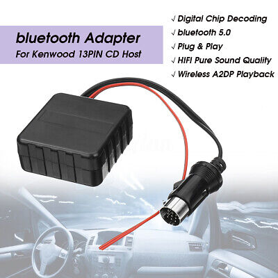 Car Bluetooth Wireless audio adapter Aux Cable for Kenwood 13pin CD Raido MA1937