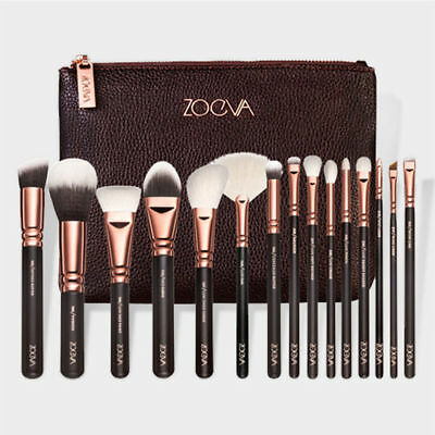 15 Make-up Pinsel Make-up Pinsel Set Schönheit Werkzeuge Powder Brown Black Rose