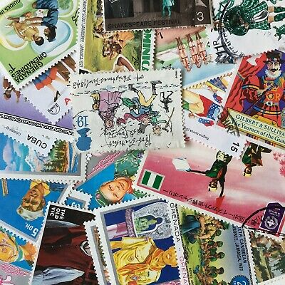 50 COSTUMES Stamps All Different Thematic World Mixed CTO's/Genuine Postage