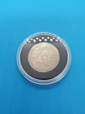 1998 Isle of Man T.T 50p 50 Fifty Pence Coin Philip McCallen TT Tourist Trophy Z