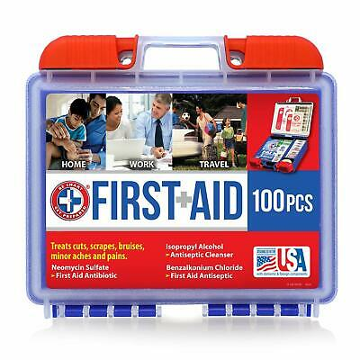 Be Smart Get Prepared 100 Piece First Aid Kit, Clean, Treat and Protect Most Inj