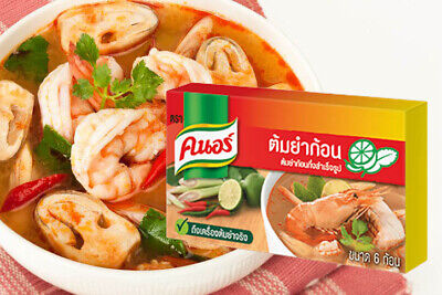 KNORR flavoring Tom Yum seafood Soup Thai style spicy original delicious
