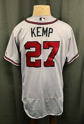 281fc7dd0acc69 Matt Kemp 2016 Game Used #27 Atlanta Braves Jersey Size 52 MLB Hologram