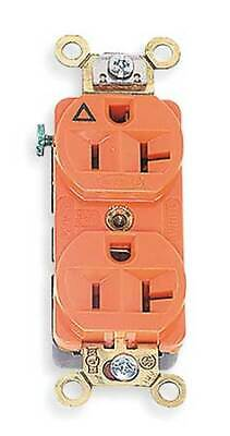 HUBBELL WIRING DEVICE-KELLEMS IG5362 20A Duplex Receptacle 125VAC 5-20R OR