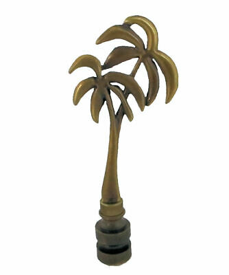 Antique Brass Palm Tree Lamp Shade Finial     #10