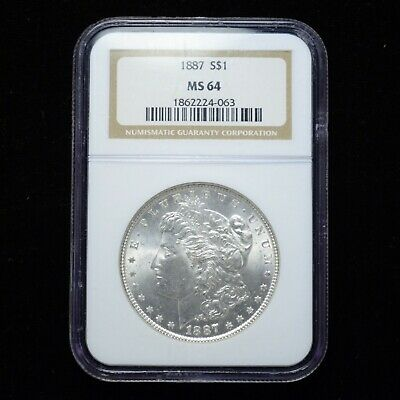 1887 Morgan Silver Dollar NGC MS64 (slx3552)