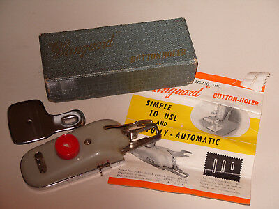 Vanguard Buttonholer Vintage 1950s Sewing Accessory - In Box with Instructions