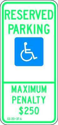 LYLE HC-NC01-12HA Parking Sign,26 x 12In,GRN and BL/WHT