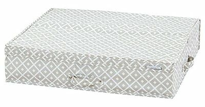 South Shore Storit Beige Canvas Underbed Storage Box with Pattern New