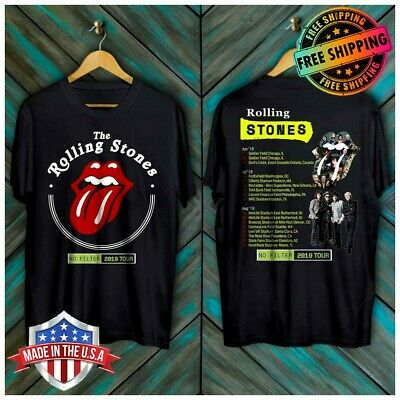 New Rolling Stones No Filter Tour 2019 with Dates T-Shirt Made in USA S-6XL